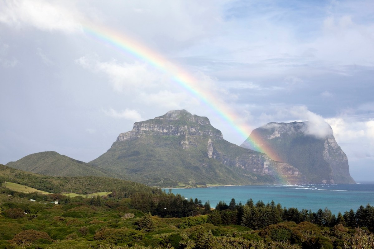 John Game, Mount Gower, Lord Howe Island, Rainbow, hike, coastal, island