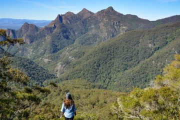 WAE_ChallengingHikes_IntroductionPhoto Lisa Owen Top 5 Challenging Hikes Near Brisbane, woman, hiker, mountains, valley, trees