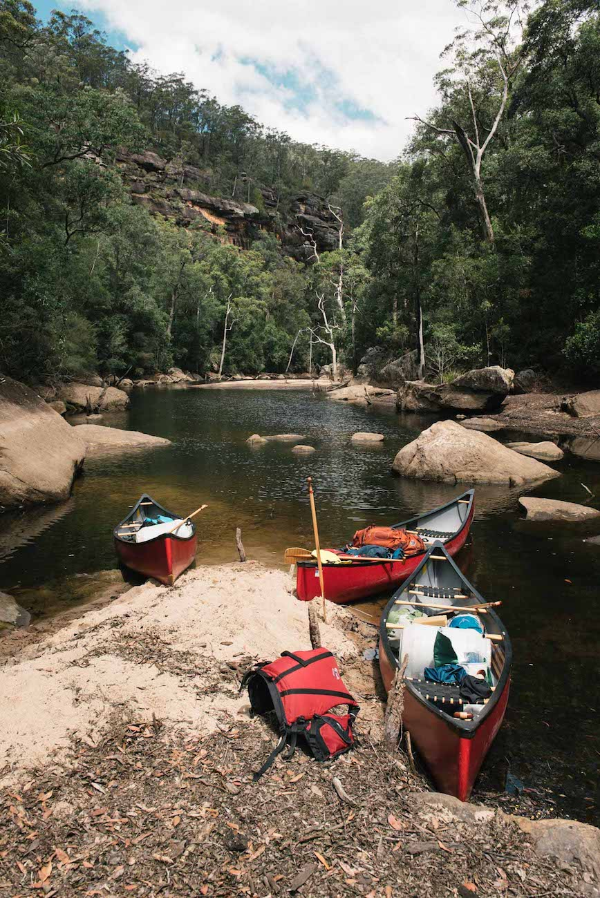 Adrian Mascenon, wilderness canoe escape, kangaroo valley, nsw