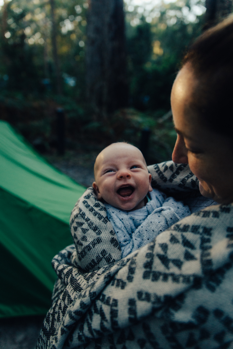 Jet Blaze Henry Brydon camping baby cute as cute can be first time camping 6 weeks old