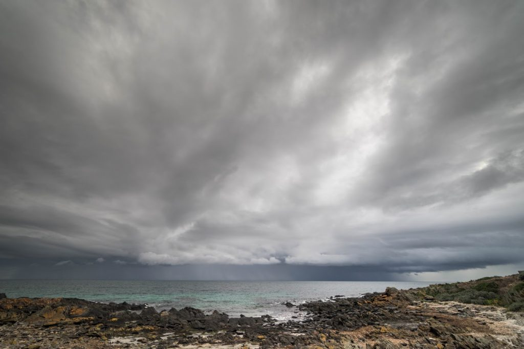 How Not To Hike (I Learned The Hard Way), Saphira Schroers, weather, respect it, rocks, beach, ocean, storm, grey clouds