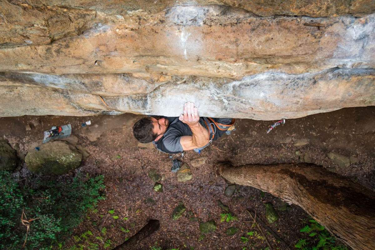 Mitch Scanlan-Bloor, Eyes on the prize, climbing, rock climbing, smooth, chalk, caring for your hands when rock climbing