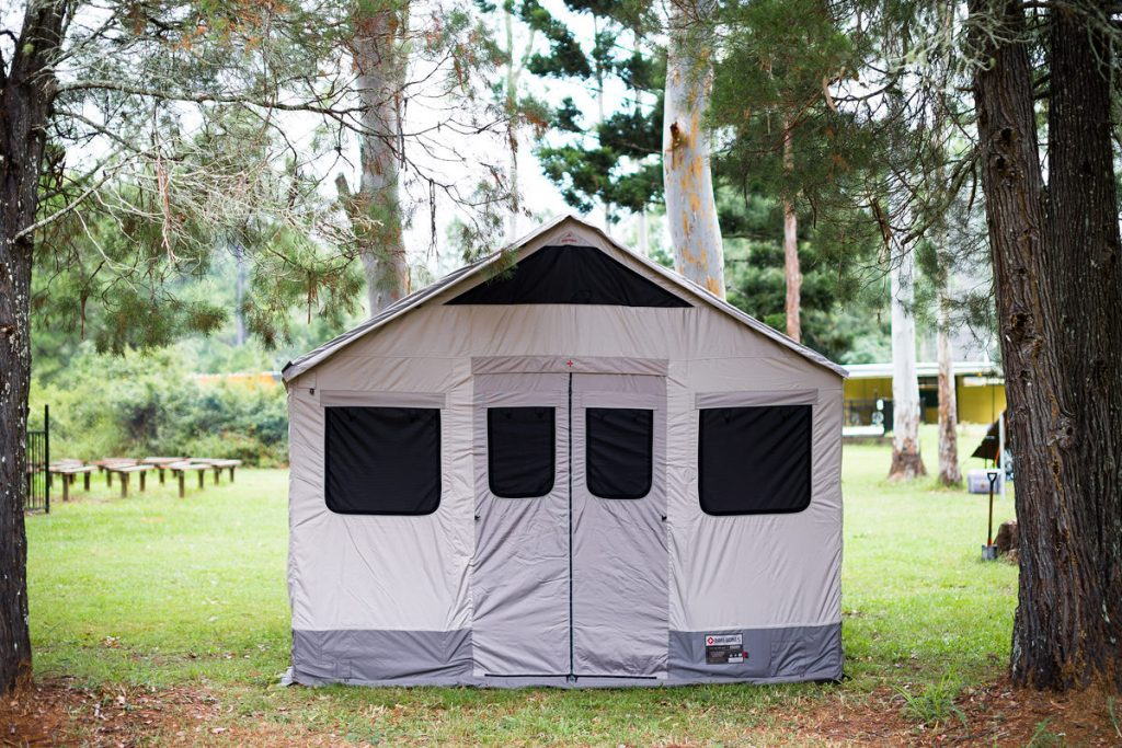 Barebones Living At The AMK Glamp Out // Product Launch, Liam Hardy, Outfitter-Tent-, long standing tent, tiny house, woods
