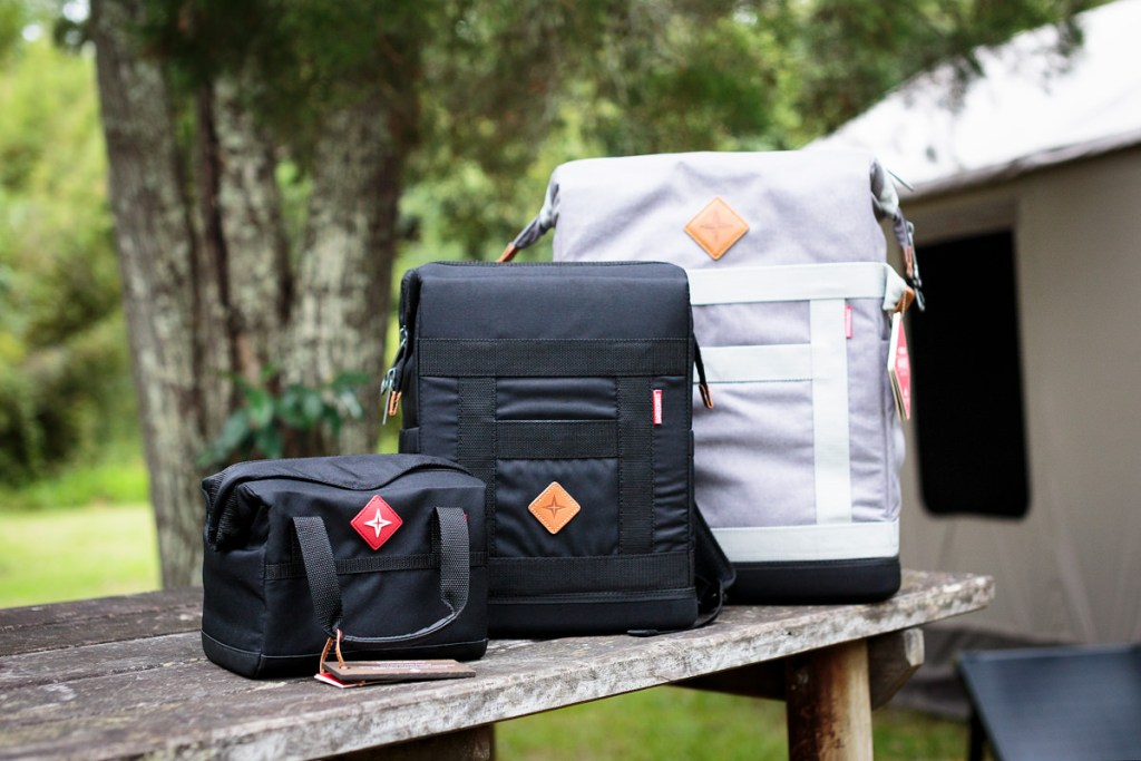 Barebones Living At The AMK Glamp Out // Product Launch, Liam Hardy, Trekker_Rambler_Maverick-Coolers, bench, esky, lunchbox, beer