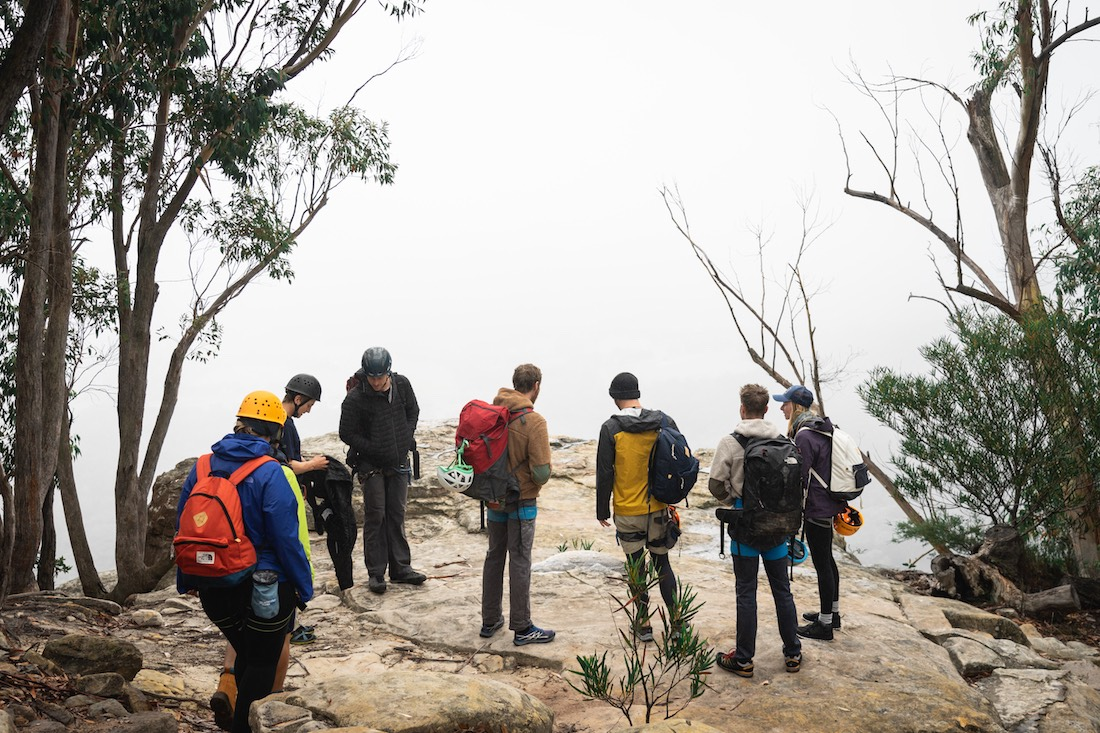 Jeremy Lam, 3 Climbing Tips From Our Weekend With The North Face Pros, ben cossey, lee cossey, blue mountains, mount york, nsw, rock climbing, wilderness escape. clifftop, fog