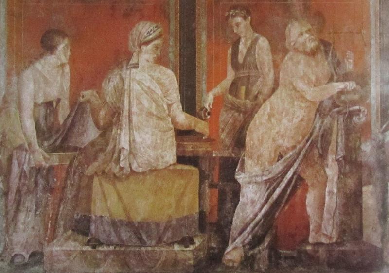 Einblick in antike Wohnzimmer  Augustusforum