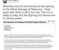 США готовы помочь прекратить войну на Донбассе, но Россия должна сделать выбор в пользу мира, - Волкер