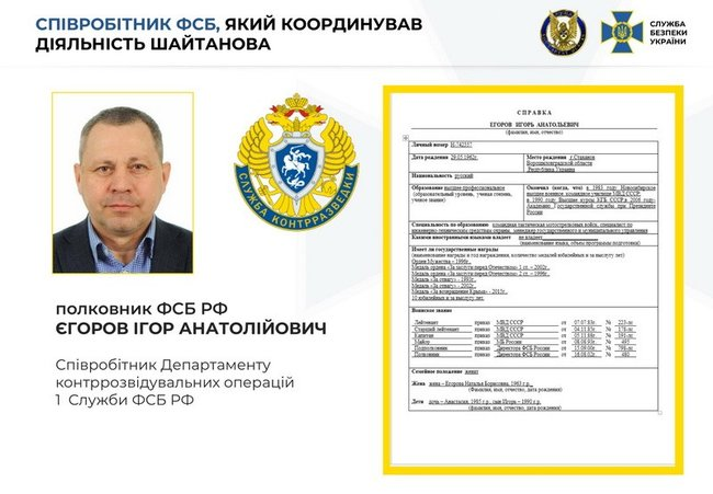 Контрразведка задержала работавшего на ФСБ РФ генерал-майора СБУ Шайтанова по подозрению в госизмене и совершении терактов 06
