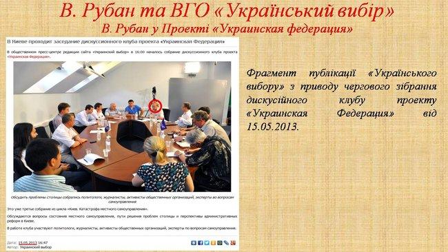Рубан - российский политический проект: презентация СБУ о деятельности руководителя Офицерского корпуса 12