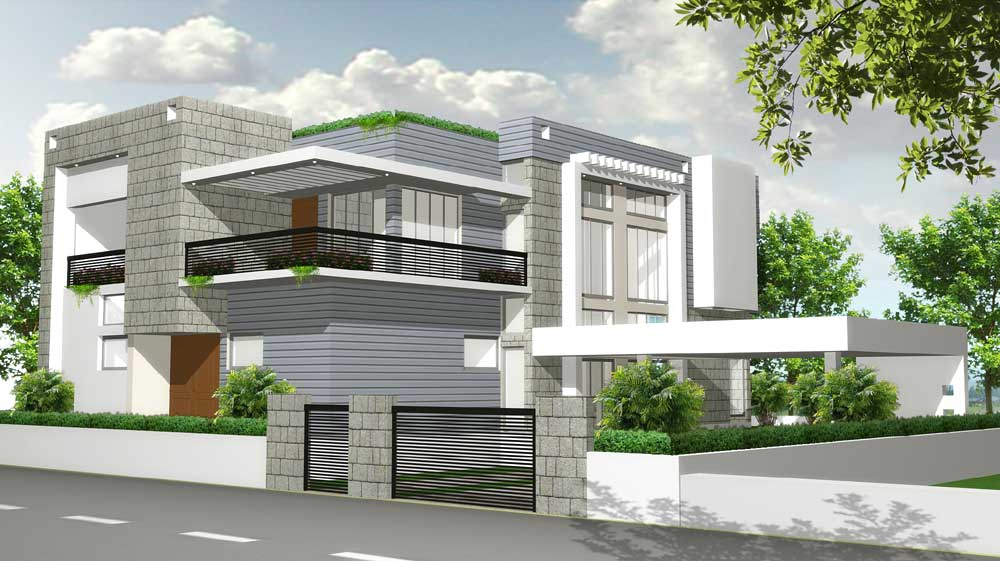 Architectural Home Design by Vimal Arch Designs  Category Private Houses Type Exterior