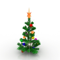 New Years Eve Collection 3D Models Christmas Tree 3D Model Gsm3ds For Interior