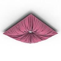 Curtains, pillows, carpets & textile 3D Models | Ceiling ...