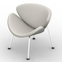 Orange Slice Chair Ergonomic Kl Armchair 3d Model Gsm 3ds For Interior Visualization Download