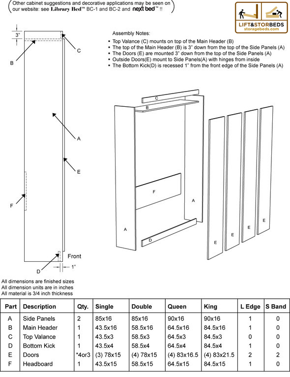 Diy Murphy Bed Hardware Kits For Sale Lift Amp Stor Beds