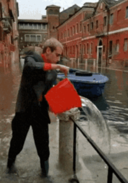 Draining the canal
