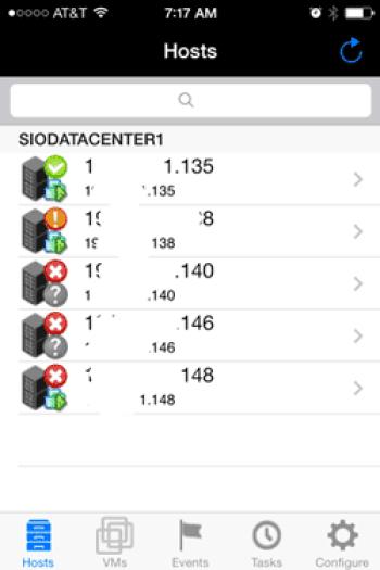 Storage I/O IVM main screen