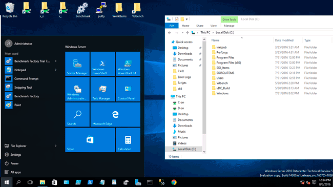 Microsoft Windows Server 2016 TP5