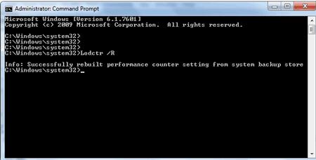 Windows Lodctr /R
