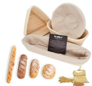 Natural Rattan Bread Basket Kitchen Storage Size : Round S|Round L|Round XL|Round XXL|Round XXXL|Oval S|Oval L|Oval XL|Oval XXL|Oval XXXL|Triangle S|Triangle L|Triangle xL|Baguette S|Baguette L
