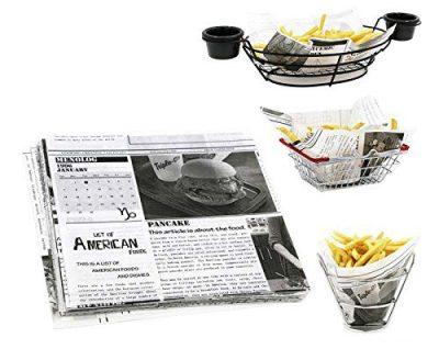 Mannily Food Grade Tissue Paper Food Basket Liners