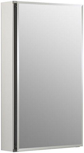 KOHLER Frameless 15 inch x 26 inch Aluminum Bathroom Medicine Cabinet