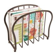 Decorative Metal Wire Magazine Holder, Organizer