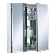 25 inch x 26 inch Aluminum Bathroom Medicine Cabinet