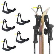 YYST V Style Ski Wall Mount Ski Wall Holder Ski Wall Rack 5/PK - No Skis and Poles -Hold Heavy Skis