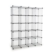 UNICOO - Multi Use DIY 20 Cube Wire Grid Organizer,Wardrobe Organizer