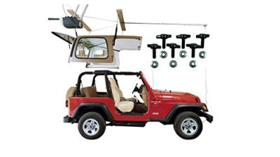 HARKEN Jeep Hardtop Garage Storage Hoist with Bonus 6 T Knobs