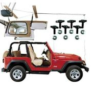 HARKEN Jeep Hardtop Garage Storage Hoist with Bonus 6 T Knobs