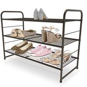 CAXXA 3-Tier Stackable Metal Utility Rack Storage for Shoe