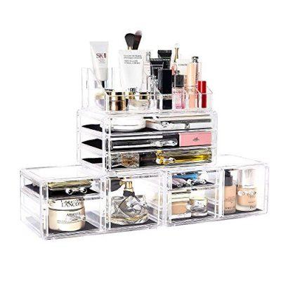 Makeup Organizer 4 Pieces Acrylic Jewelry and Cosmetic Storage