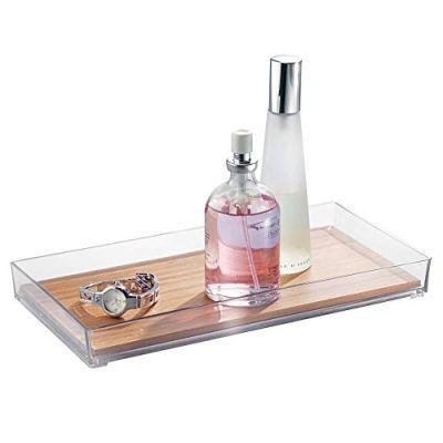 interDesign Formbu Bamboo Vanity Tray, Guest Towel Board