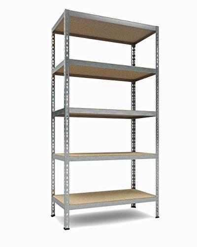 "TKT Heavy Duty Shelving 5-Shelf Shelving Unit, 1.925lbs Capacity, 36"" Width x 72"" Height x 18"" Depth"