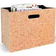 Foldable Newspaper Storage Bin Organizer