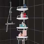 HomeHelper Tension Corner Shower Caddy
