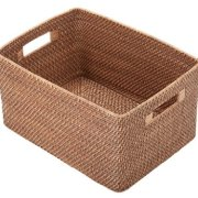 "KOUBOO 1060010 Rattan Utility Basket, 17.2"" x 12.8"" x 9.2"", Bronze"
