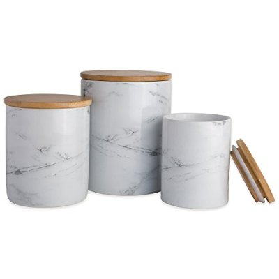 DII White Marble Ceramic Canister Set/3