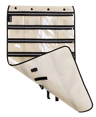 Zippered Jewelry Organizer Hanging For Travel Home Storage 30 Zippered Pockets