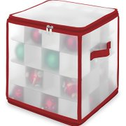 Whitmor Christmas Ornament Cube with 64 Compartments