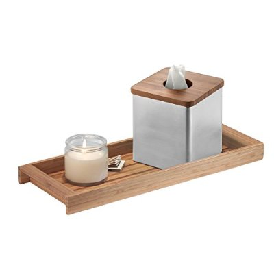 Wood Tank Top Storage Tray Wooden Organizer for Tissues