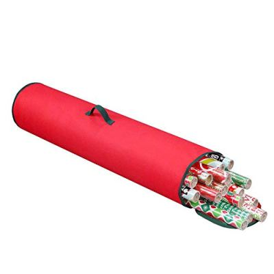"""Primode Gift Wrapping Storage Bag with Handle   Wrapping Paper Tube Bag for Storing Multiple Rolls of Gift Wrap, 40"""" Length Constructed of Durable 600D Oxford Material (Red)"""