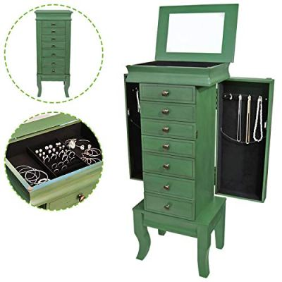Jewelry Treasure Armorie Cabinet Chest Big Storage Box Organizer