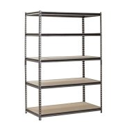 "Heavy Duty Garage Shelf Steel Metal Storage 5 Level Adjustable Shelves Unit 72"" H x 48"" W x 24"" Deep"