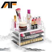 AF Acrylic Makeup Organizer Storage Box Cosmetic Organizador de maquiagem Makeup Storage Drawers Organizer C43