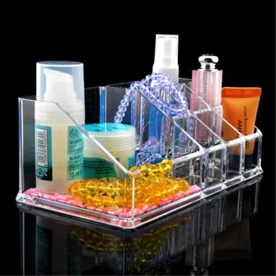 9 Grids Make up Storage Holder Organizer Storage Box Skin Care jewelry Box Thick Clear Acrylic Sundry Holder Case EQC352