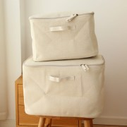 Foldable Linen Cotton Storage Basket Japanese Style Dirty Clothes Storage Laundry Basket Sundries Organizer Toy Home Storage Box