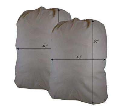 """Huge Havy Duty Eco Friendly Cotton Storage Laundry Bag, Sixa 40""""X50"""", for Painting, Storage. Moving (2 Pack)"""