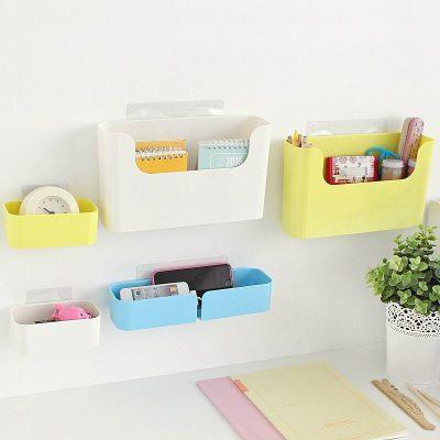 Multifunctional hanging shelf desktop finishing box bathroom storage box